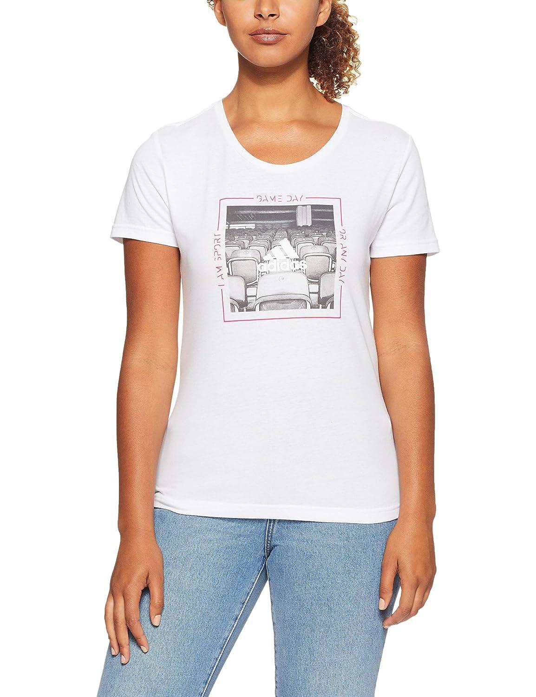 Camiseta, Adulto, Femenino, Blanco, Imagen, M adidas DJ1602 M Camisa y Camiseta Cuello Redondo Manga Corta Algod/ón Camisas y Camisetas