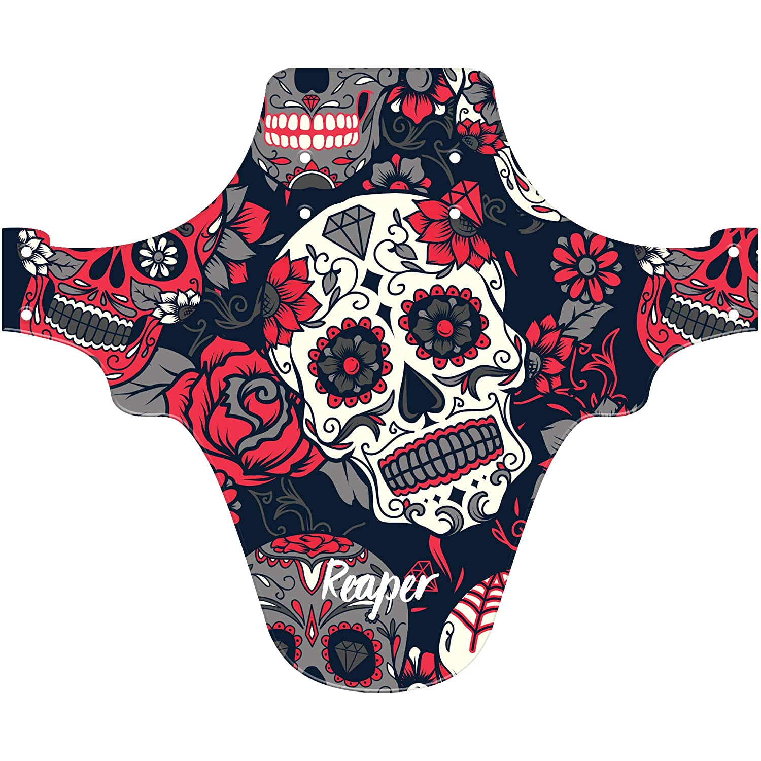 Candy Skull Multicolour Fits 24 26 /& 27.5 Reaper Accessories Easy-fit Front Mountain Bike Mud Guard Cycle Cycling Fender