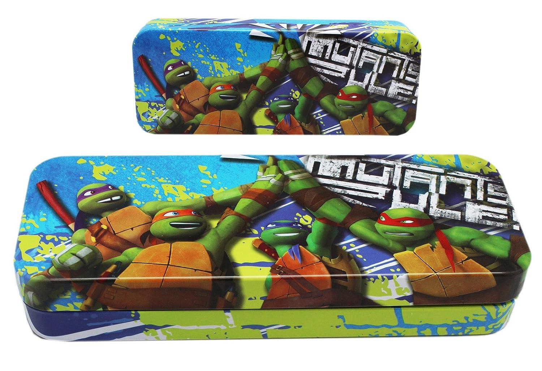 Teenage Mutant Ninja Turtles Blue Colored Tin Pencil Box