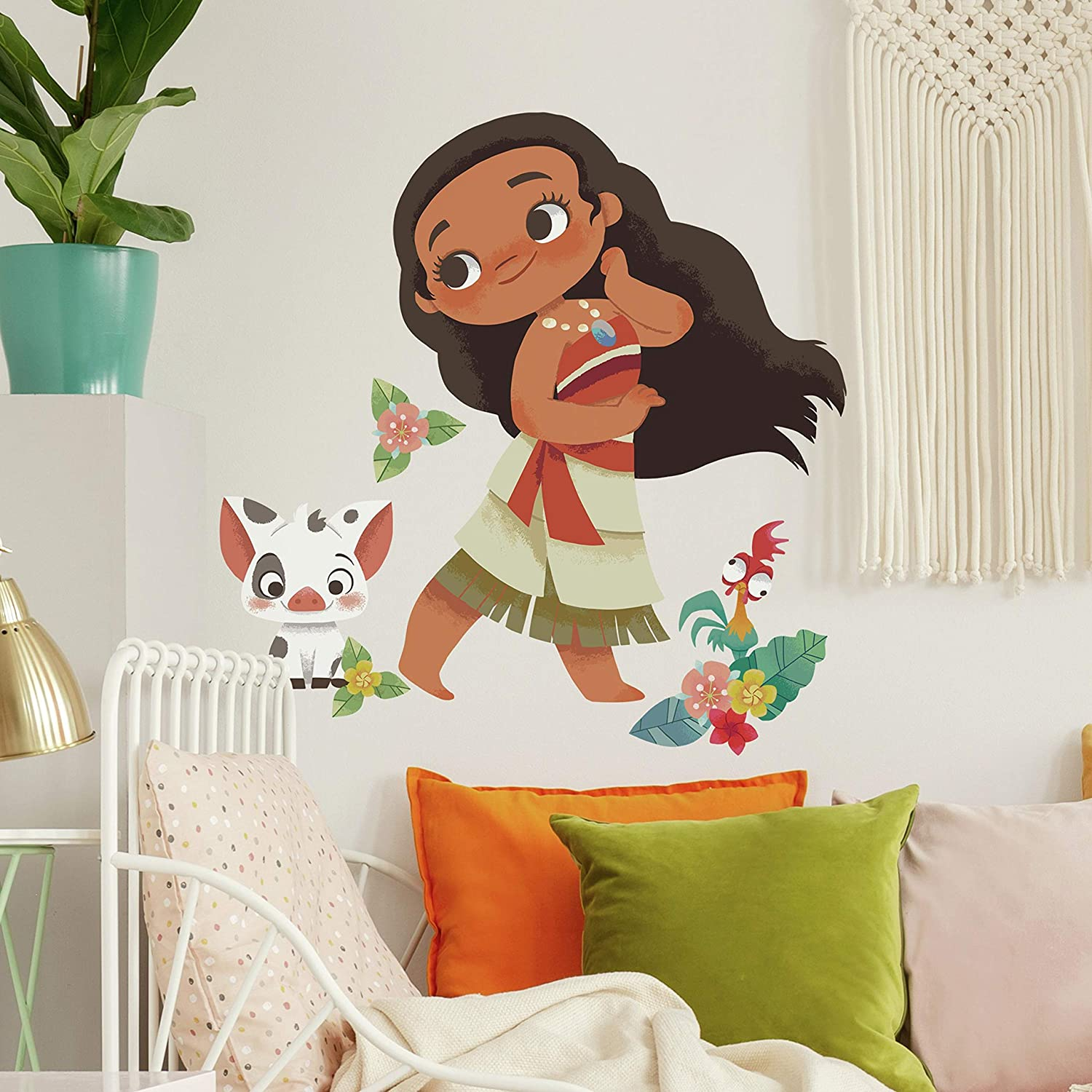 RoomMates Vintage Moana Peel and Stick Giant Wall Decals