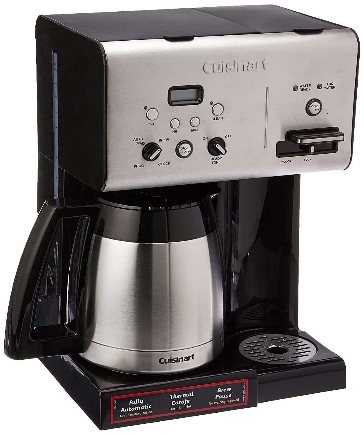 programmable coffee brewer with hot water system