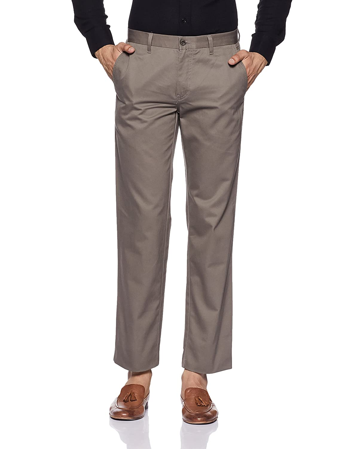 60e8985b681 Louis Philippe Men's Straight Fit Formal Trousers: Amazon.in: Clothing &  Accessories