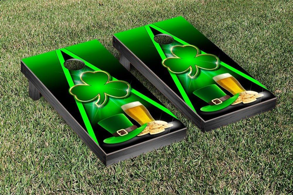 Victory Tailgate Irish Shamrock and Beer Cornhole Game Set
