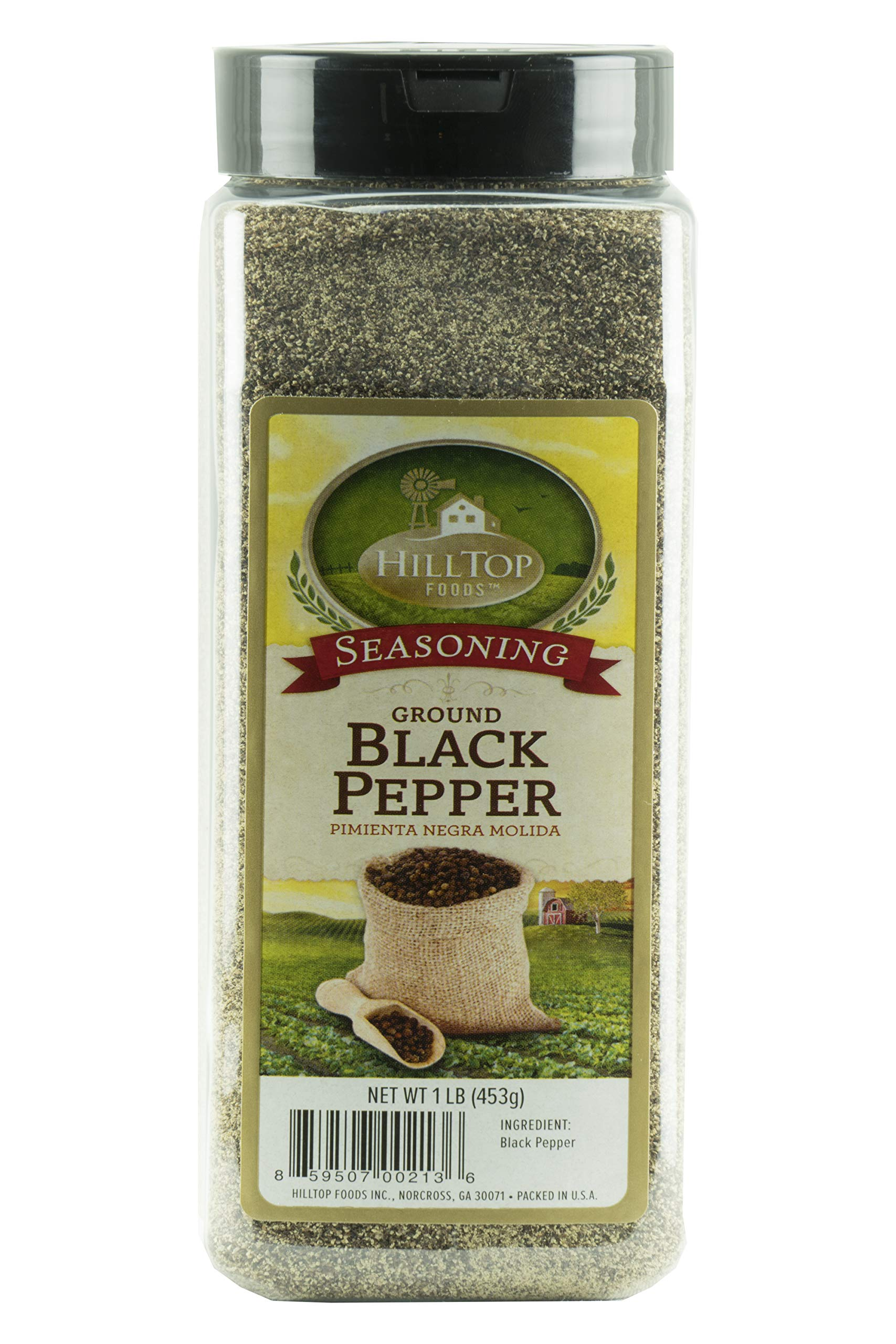 Hilltop Foods Ground Black Pepper-Natural Powder 1 Lb. Container by HillTop Foods Inc. (Image #2)