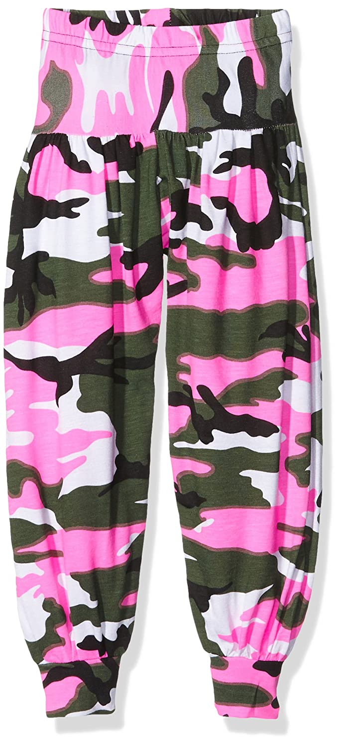Jolly Rascals Girl's Pcamoharem Trousers Pink (Pink Camo) 2-3 Years