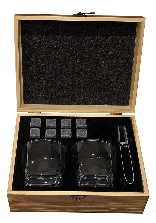 AMBRIZZOLA Premium Whiskey stones Gift Set