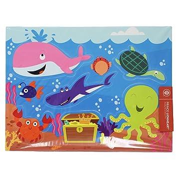 Prince Lionheart Bath Puzzle, Ocean/Dino