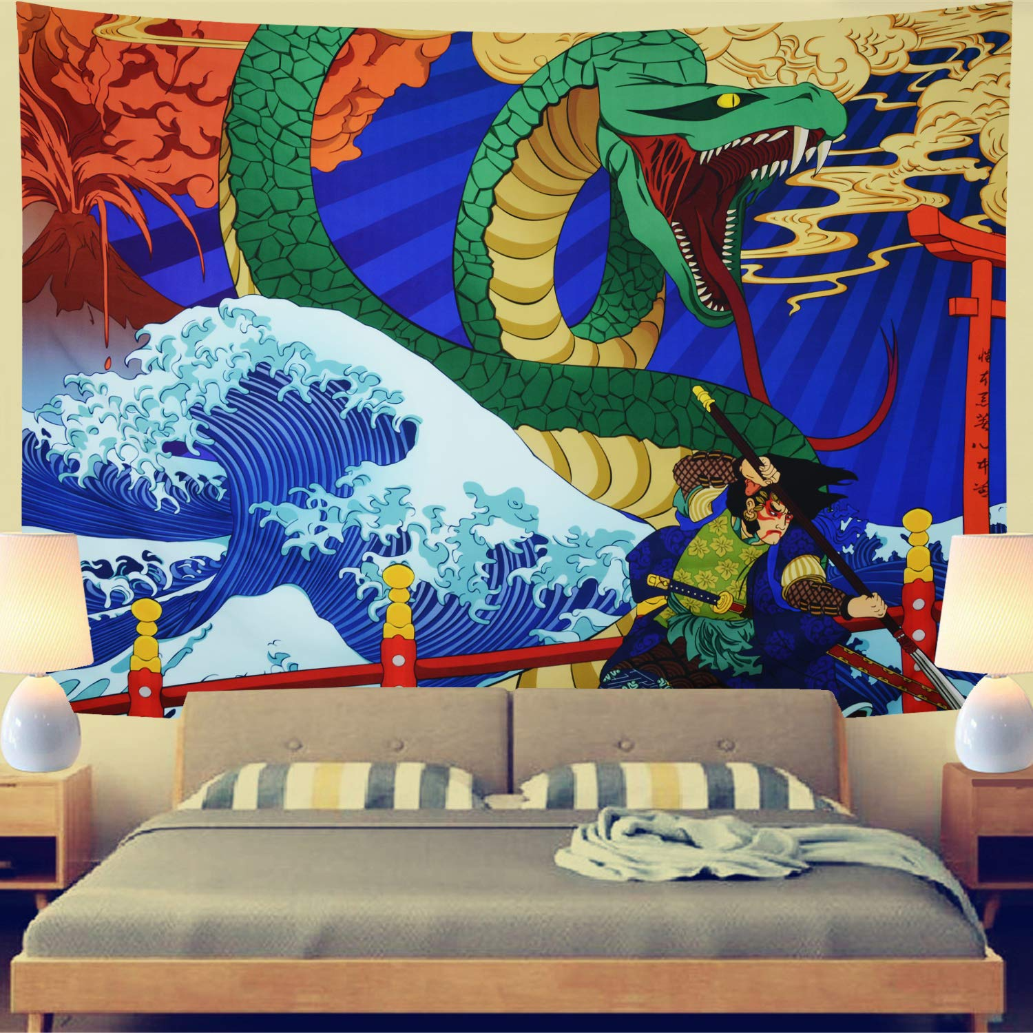 Tapestries Japanese Painting Ukiyo E Bedroom Living Room Wall Hanging Tapestry Decoration Total Production Ru