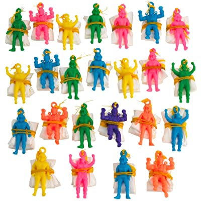 Kicko Mini Vinyl Paratroopers - Pack of 24-1.75 Inches Assorted Colors Cool Airborne Action Figures - for Kids Party Favors, Bag Stuffers, Fun, Toy, Prize: Toys & Games
