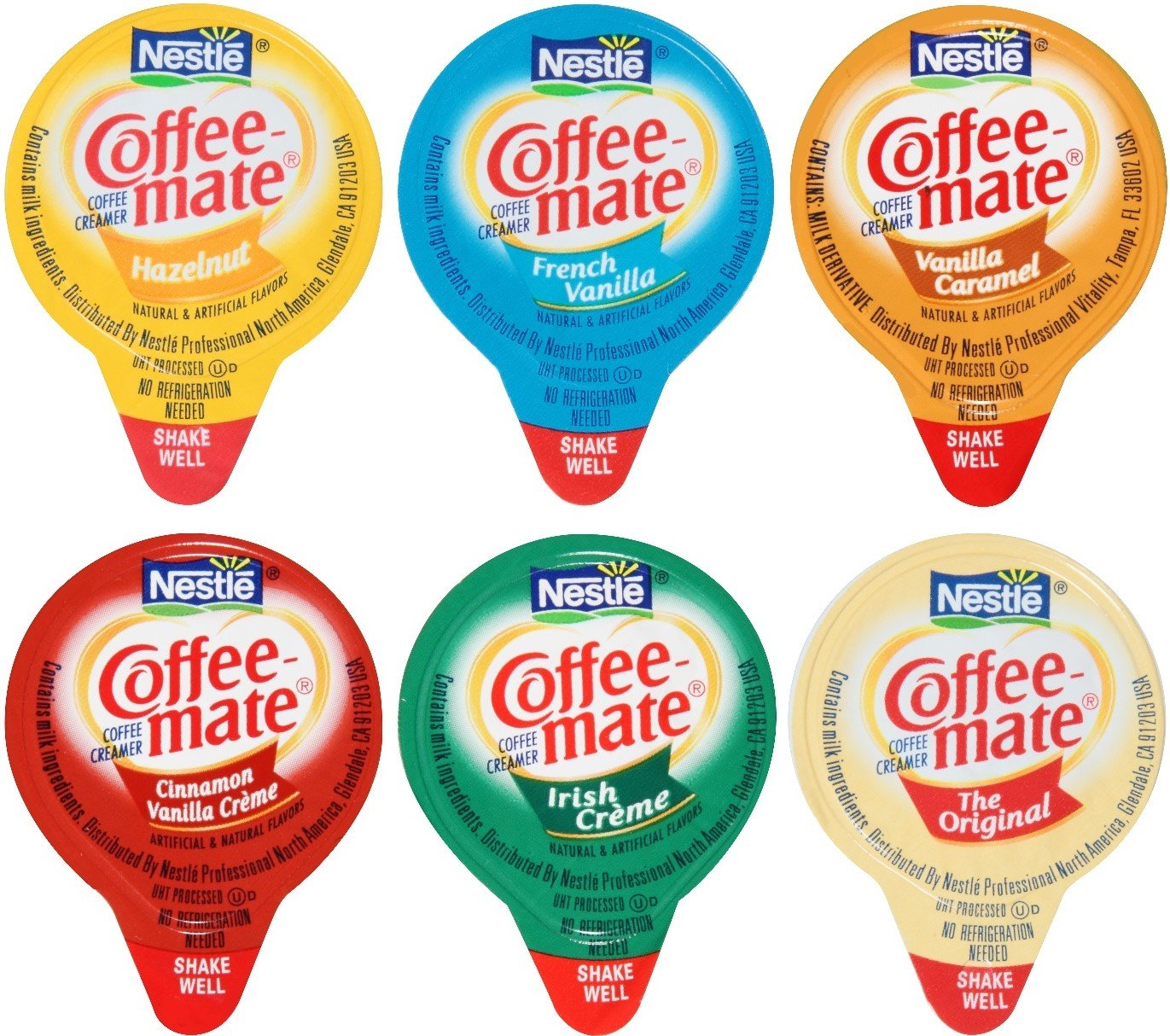 Coffee Mate Liquid .375oz Variety Pack (6 Flavor) 180 Count by By The Cup