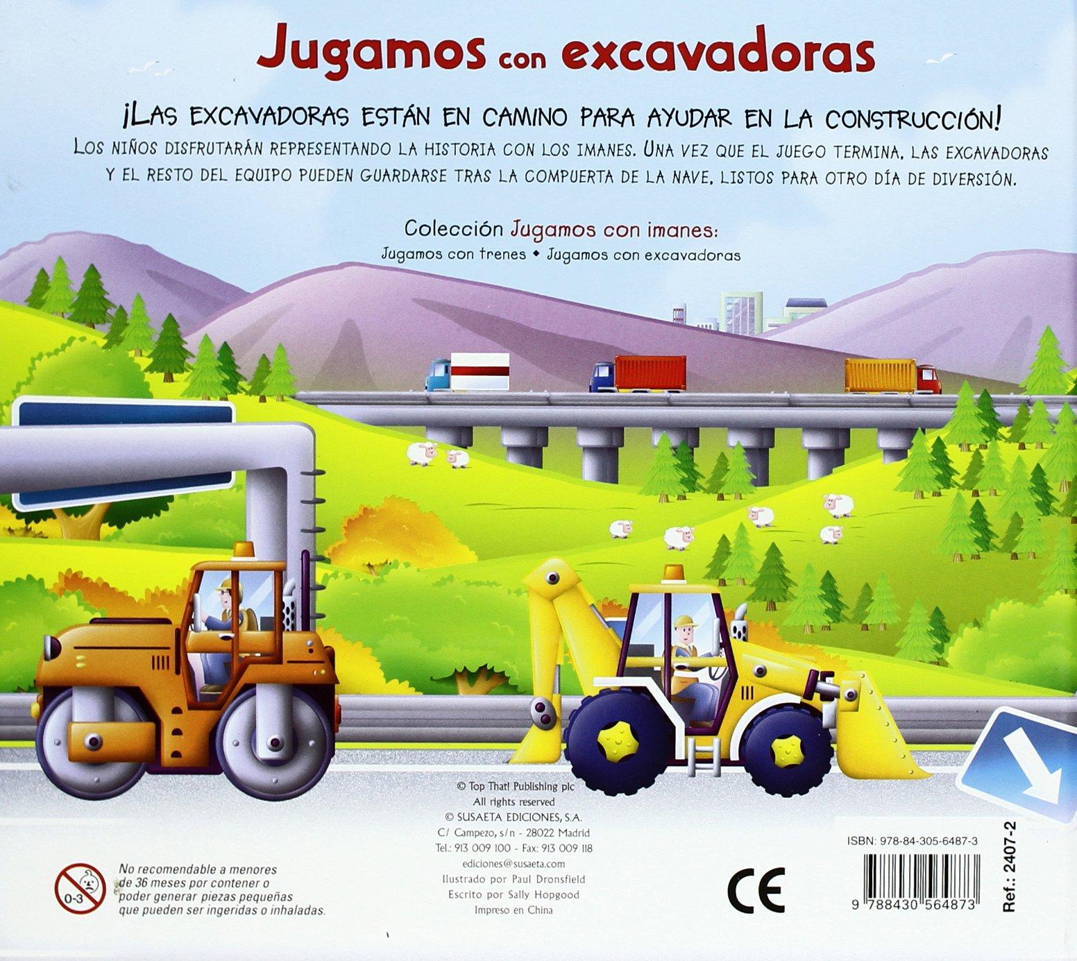 Jugamos con excavadoras (Jugamos Con Imanes): Amazon.es: Susaeta ...