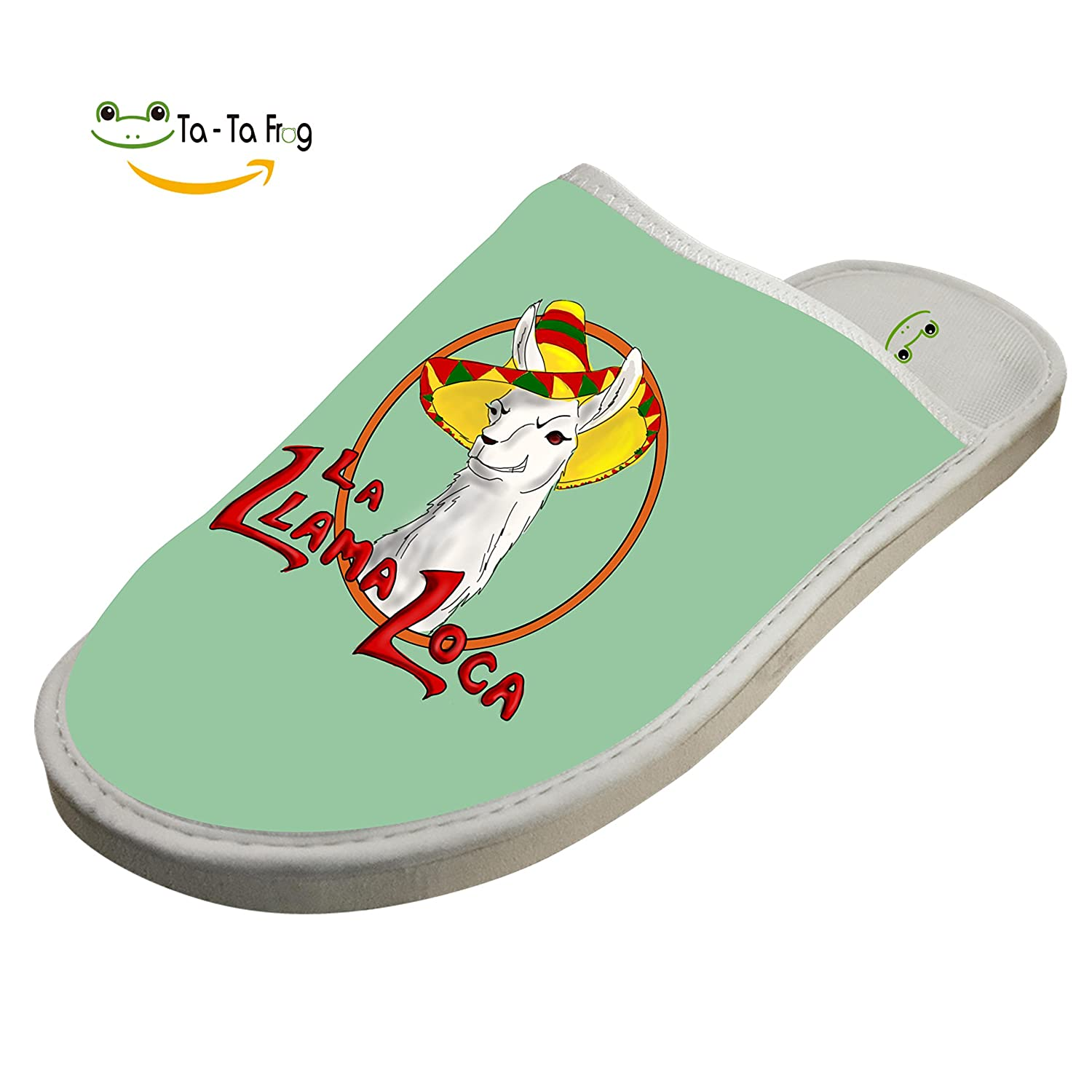 KOUY Llama Locn Closed Toe Cotton Slippers Warm Soft Indoor Shoes Non-Watertight