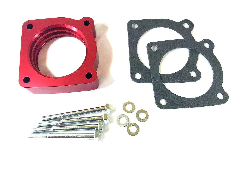 Red Anodized Throttle Body Spacer for 02-06 Nissan SENTRA SE-R SPEC V 2.5L SER