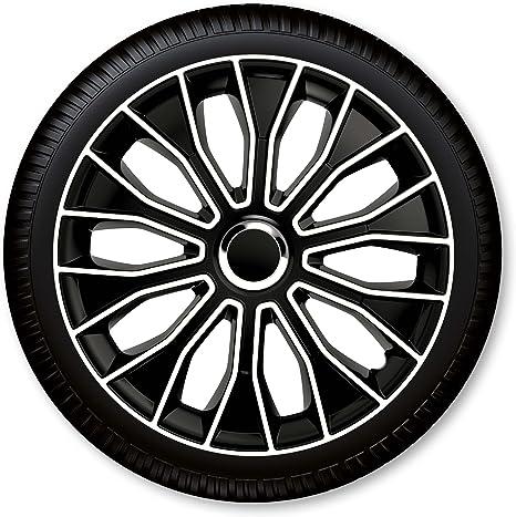 15 Zoll Radzierblenden Radkappen Voltec Pro Black White 15 Schwarz Weiß Auto