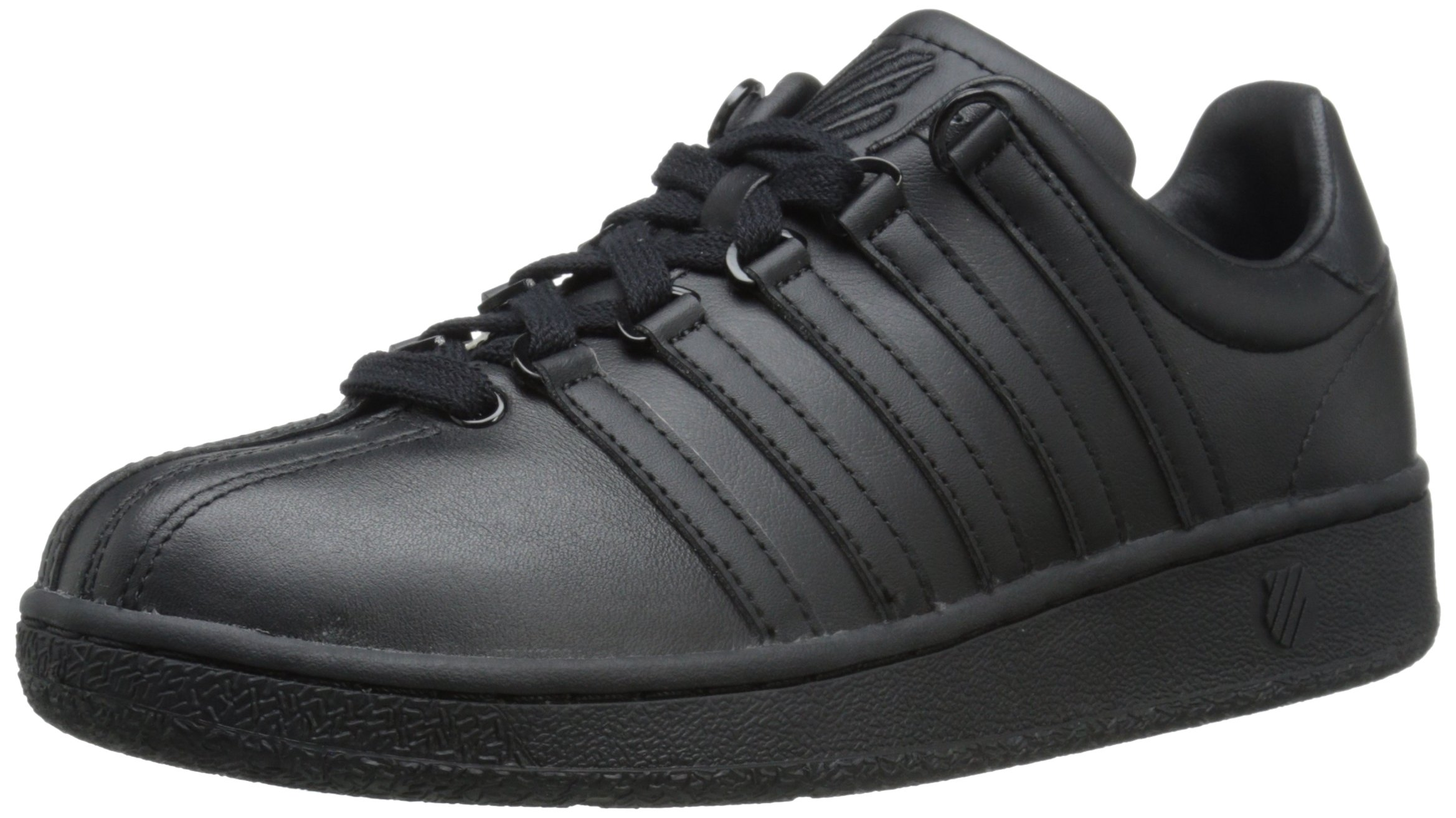 K-Swiss Women's Classic VN Fashion Sneaker, Black/Black, 8.5 M US by K-Swiss