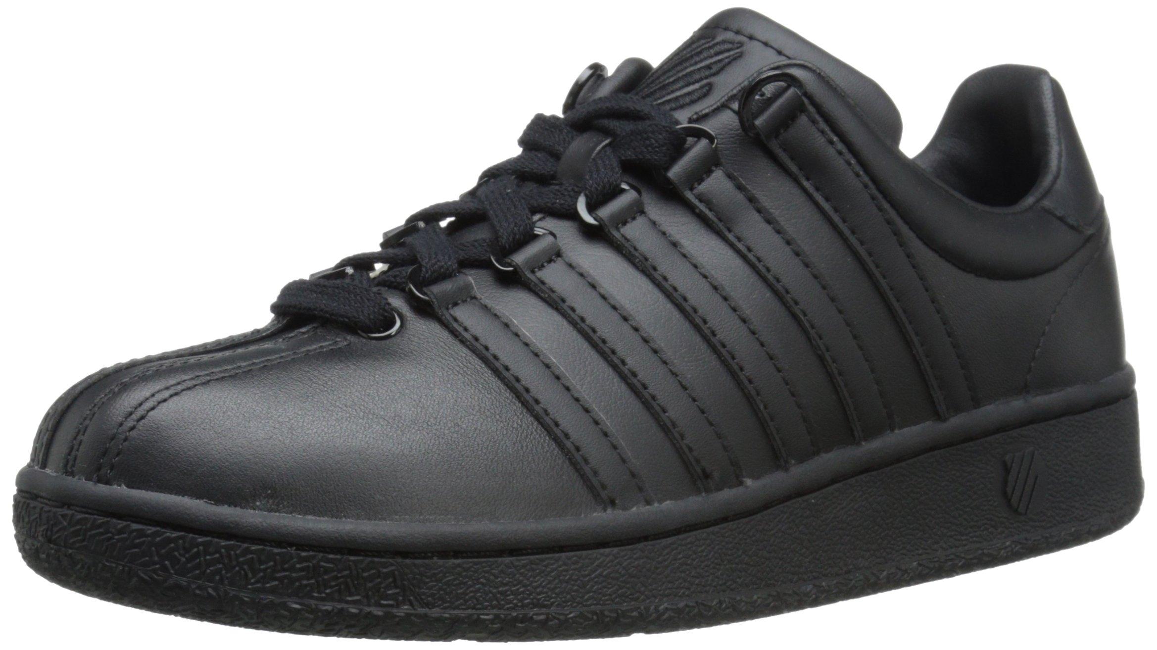 K-Swiss Women's Classic VN Fashion Sneaker, Black/Black, 8.5 M US