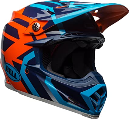 11c672c591d29 Bell Moto-9 MIPS Off-Road Motorcycle Helmet (Gloss Blue/Orange District,  Large)