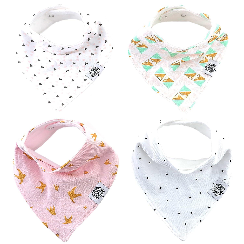 Amazon.com: Parker Baby Bandana Drool Bibs – 4 Pack Baby Bibs for ...