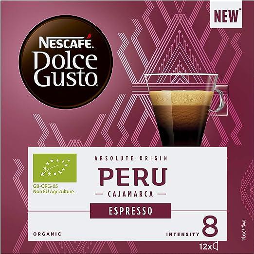 NESCAFÉ Dolce Gusto - Cápsulas orgánicas Perú Cajamarca Espresso ...