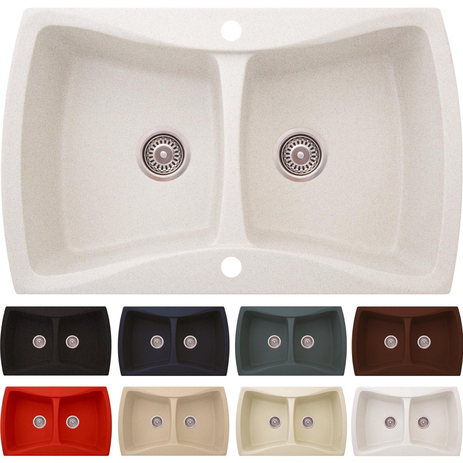 Lavandino in granito Navia | lavello da incasso ab mobiletto ottanta ...
