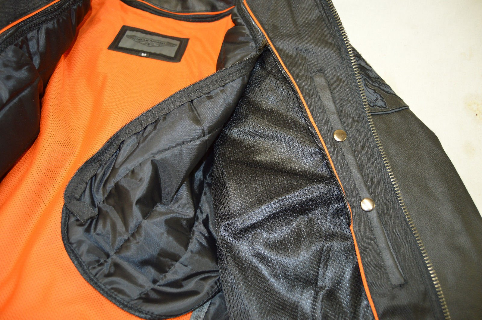Dream Men's Motorcycle Riding Blk Reflective Skull Leather Jacket Big Sizes Upto 10xl (6XL Regular) by Dream (Image #6)