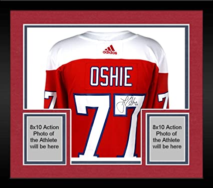 720845a41e6 ... top quality framed t.j. oshie washington capitals autographed red  alternate adidas authentic jersey fanatics authentic certified