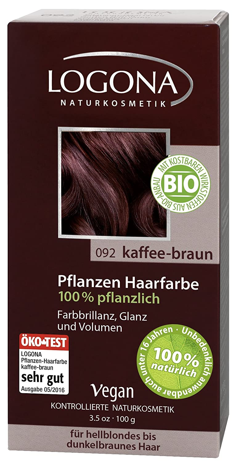 Logona Hair Color Natural Herbal Botancial Coffee Brown 3.5 Ounce 1113