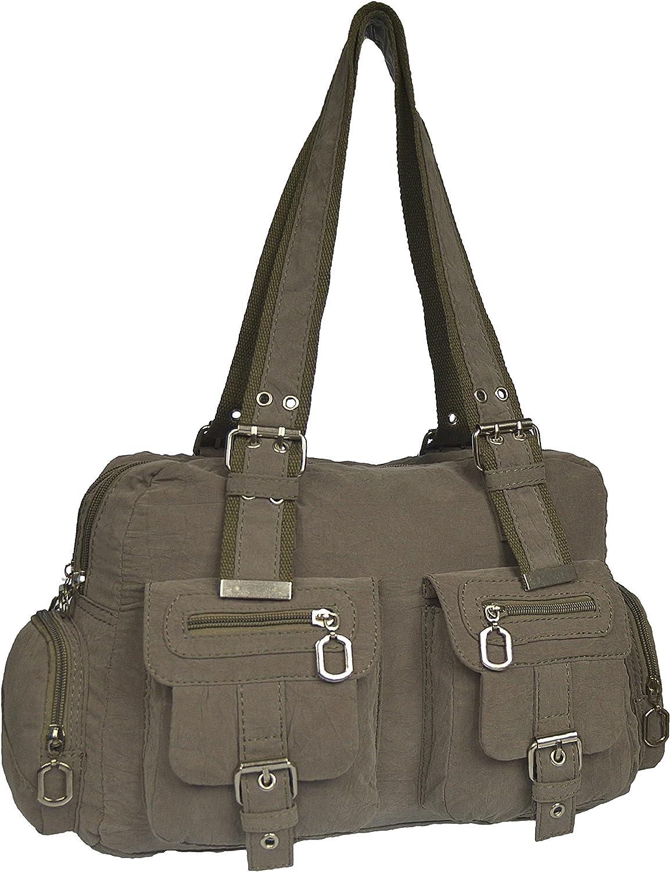 Sportliche Leichte Damentasche Shopper Henkeltasche Trage-Tasche Handtasche Stofftasche viele Farben