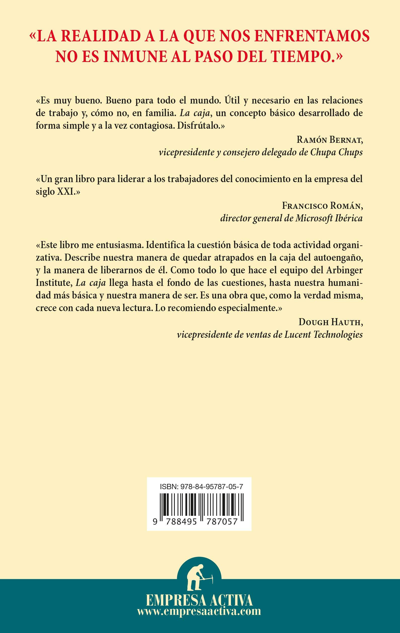 La caja (Narrativa empresarial): Amazon.es: The Arbinger Institute ...