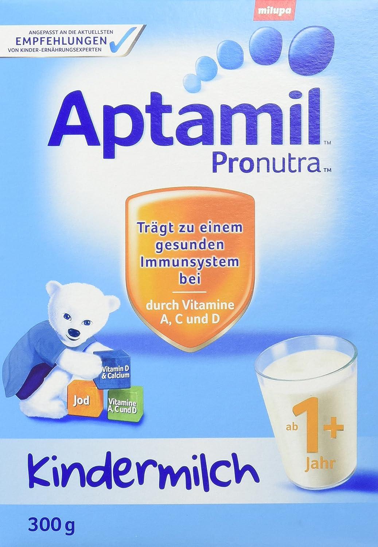 Aptamil Kindermilch 1+ Probiergröße. ab 1 Jahr, 8er Pack (8 x 300 g) 78570 1. Geburtstag Kleinkind Milchgetränk