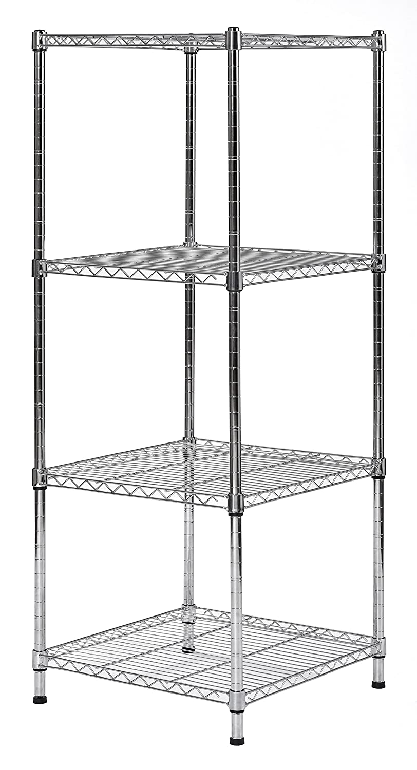 Amazon Com Muscle Rack Sws181847 4c Steel Wire Shelf Slim Spacesaver 18 W X 18 D X 47 H 4 Shelves 47 Height 18 Width 18 Length Industrial Scientific