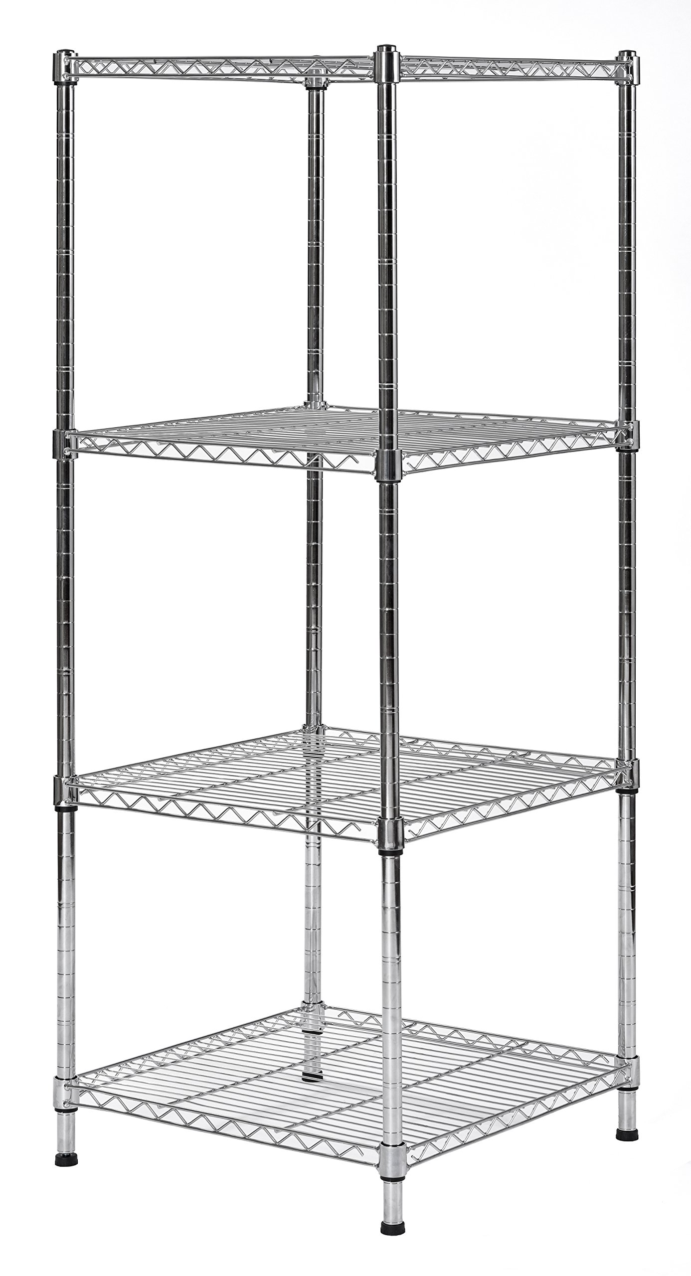 Muscle Rack SWS181847-4C Wire Shelf Slim Spacesaver 18''W x 18''D x 47''H, 4 Shelves, 47'' Height, 18'' Width, 18'' Length by Muscle Rack