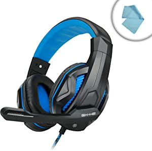 ENHANCE GX-H2 Stereo Gaming Headset with Comfortable Ear Padding and Adjustable Mic - Works With CyberPowerPC Gamer Ultra , Lenovo Erazer X700 , Alienware Area-51 and more Gaming Desktops!