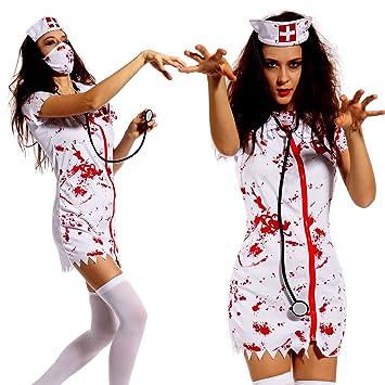 Meloo Halloween Damen Zombie Horror Madchen Kostum Fasching Karneval