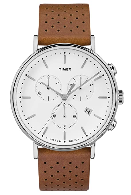 Timex Fairfield Chronograph 41mm Leather Strap Watch Tw2 R26700 by Timex