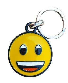 Llavero Metálico emoji Happy: Amazon.es: Hogar