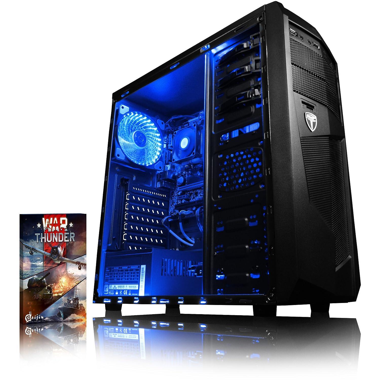 VIBOX Precision 6S Gaming PC Ordenador de sobremesa con War Thunder Cupón de Juego (3,8GHz AMD A6 Dual-Core Procesador, Radeon R5 Gráficos Chip, 8GB DDR4 RAM, 1TB HDD, Ningún Sistema operativo)