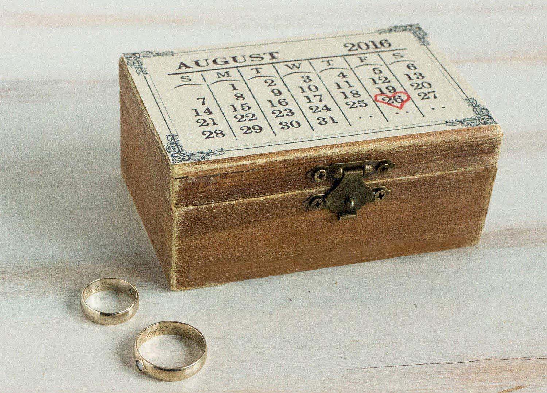 Customized Wedding Ring bearer box, Personalized wedding box, White Wedding ring box, Heart ring box, Ring pillow, Engagement box, Custom ring box Ring Holder