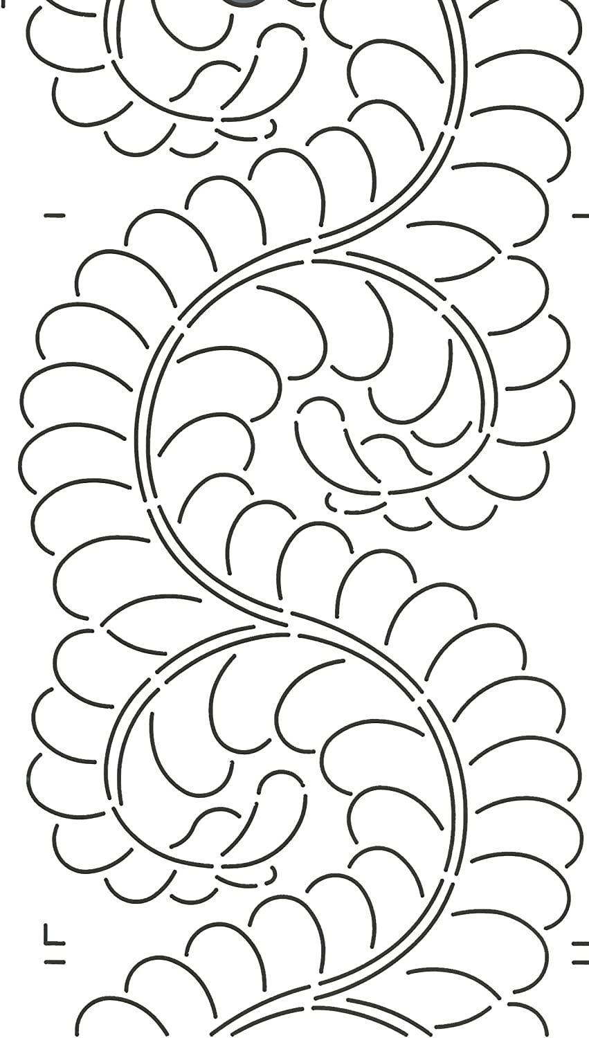 Quilting Creations Scallop Border Quilt Stencil by Quilting Creations