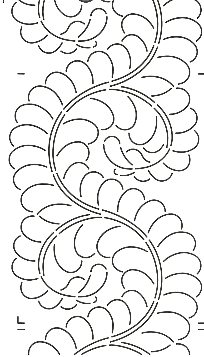 Quilting Creations Feather Border for Use with 422QC Quilt Stencil, 8 8 414QC