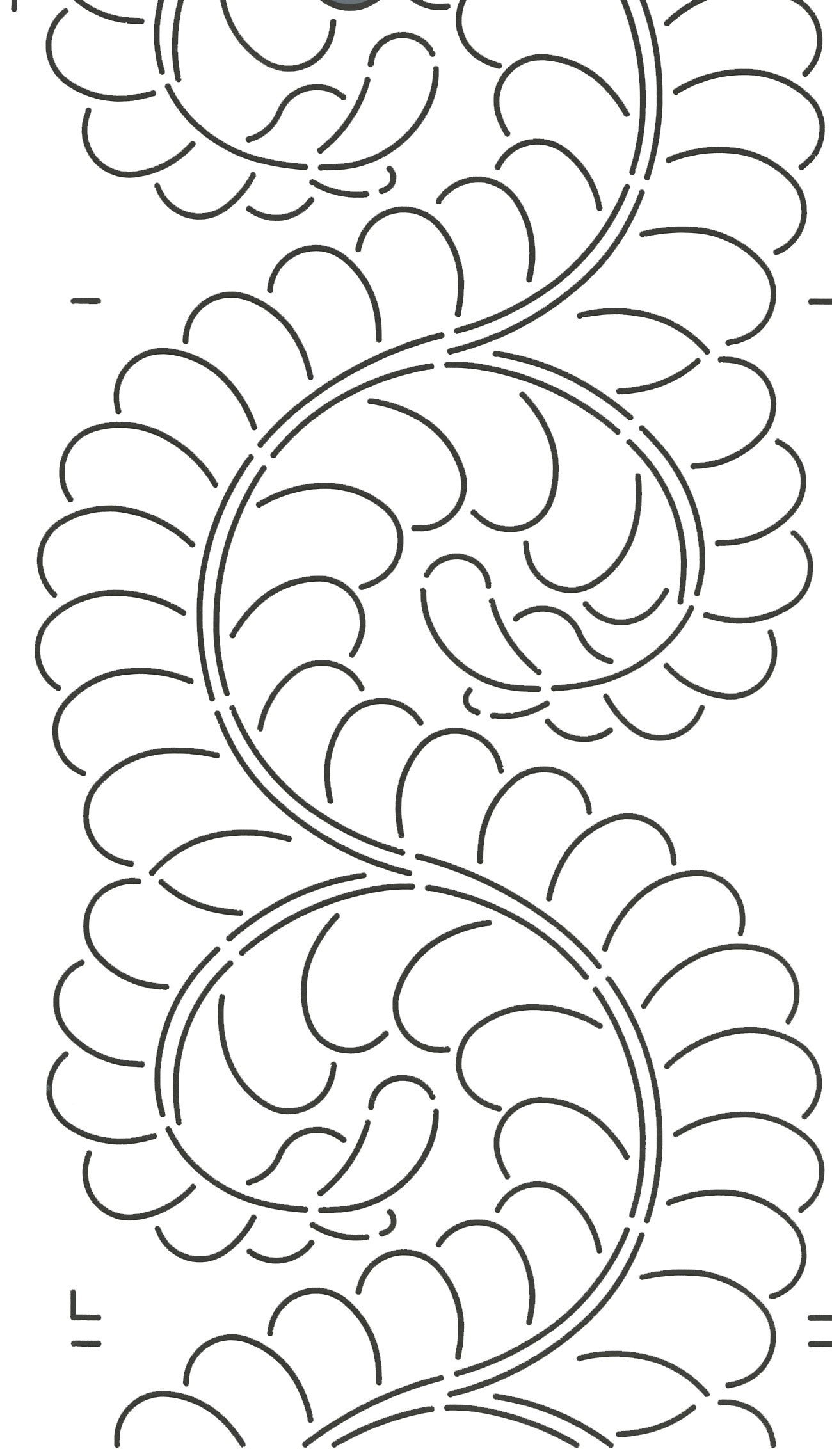Quilting Creations Feather Border for Use with 422QC Quilt Stencil, 8'' by Quilting Creations