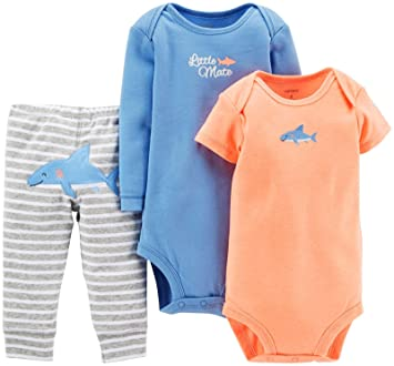 745fe131d Image Unavailable. Image not available for. Color: Carter's Baby Boys' 3  Piece Pants Set (Baby) - Shark - Newborn