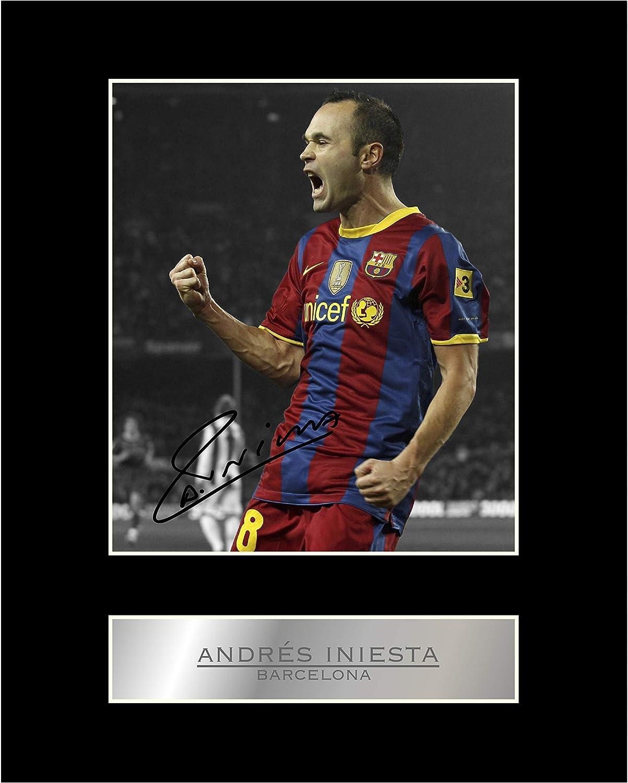 Andrés Iniesta Firmado Foto enmarcada Barcelona FC: Amazon.es: Hogar