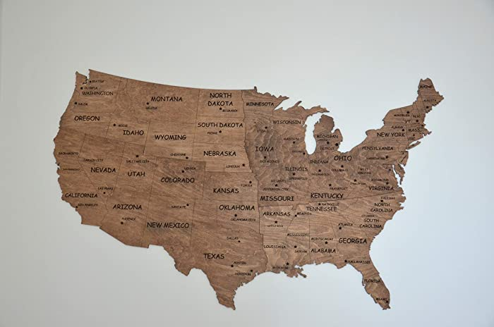 Wood Usa Wall Map Amazon.com: Independence Day Gift Wall Map United States Map Large
