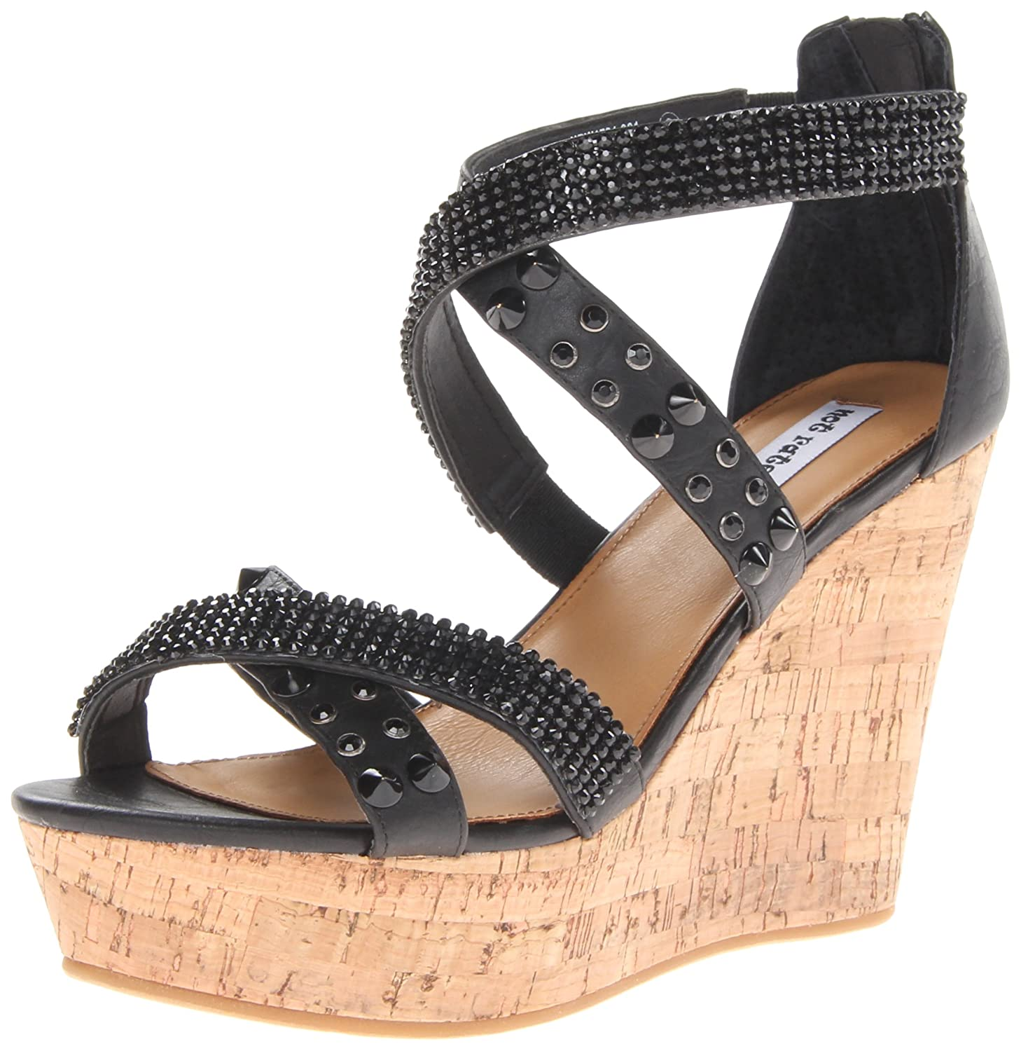 Not Rated Women's Cant Get Enough Wedge Sandal B00GSIIWGM 8.5 B(M) US Black