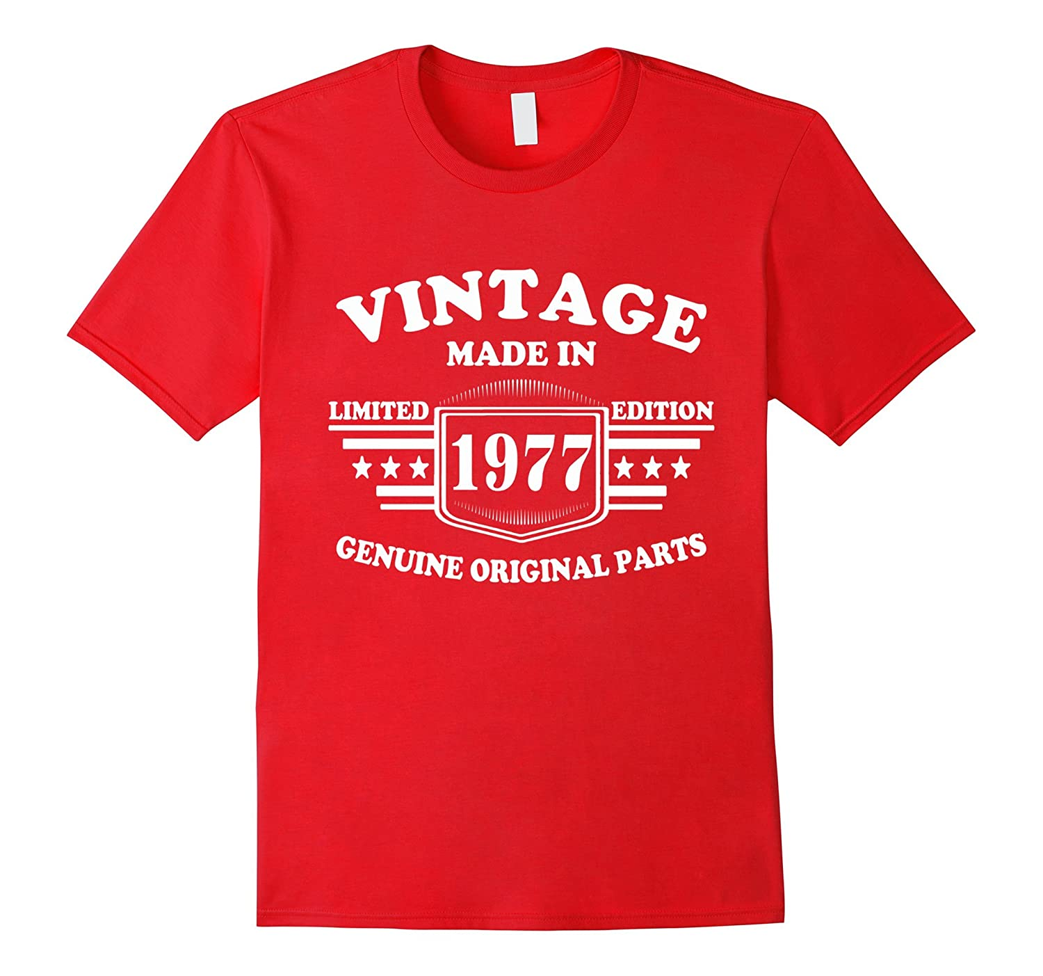 40 Birthday Vintage Made in 1977 Gift ideas Man T shirt-CD