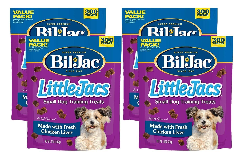 4PK Bil -Jac Little Jacs Little Dog Treat  cken Liver 10 Oz (Pack Of 4)