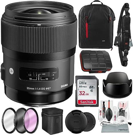 Sigma - Lente de 35 mm f/1,4 DG HSM para cámaras réflex Canon con ...