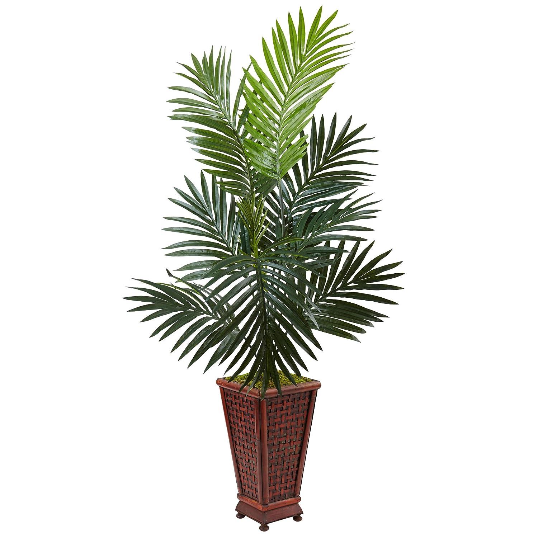 ほぼ天然 4.5フィート センチヤシの木 グリーン B073V949M8