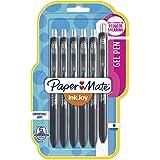 Paper Mate InkJoy Gel Pens, Medium Point, Black, 6 Count
